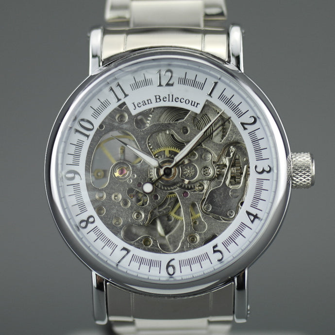Jean Bellecour Automatic Skeleton Edition wrist watch stainless steel bracelet