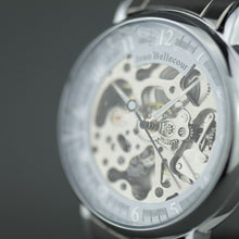 Load image into Gallery viewer, Jean Bellecour Automatic Skeleton Edition wrist watch stainless steel bracelet