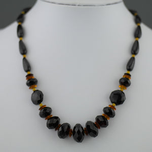 Elegant German Baltic Amber shaped beads necklace