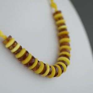 Elegant German Genuine Baltic Amber shaped beads necklace