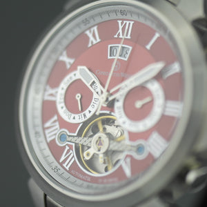 Constantin Weisz  35 jewels Automatic Open heart wrist watch Red dial and bracelet