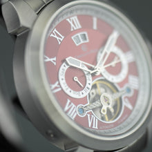 Load image into Gallery viewer, Constantin Weisz  35 jewels Automatic Open heart wrist watch Red dial and bracelet