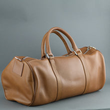 Load image into Gallery viewer, Shinola Detroit signature genuine leather medium gym Duffle bag