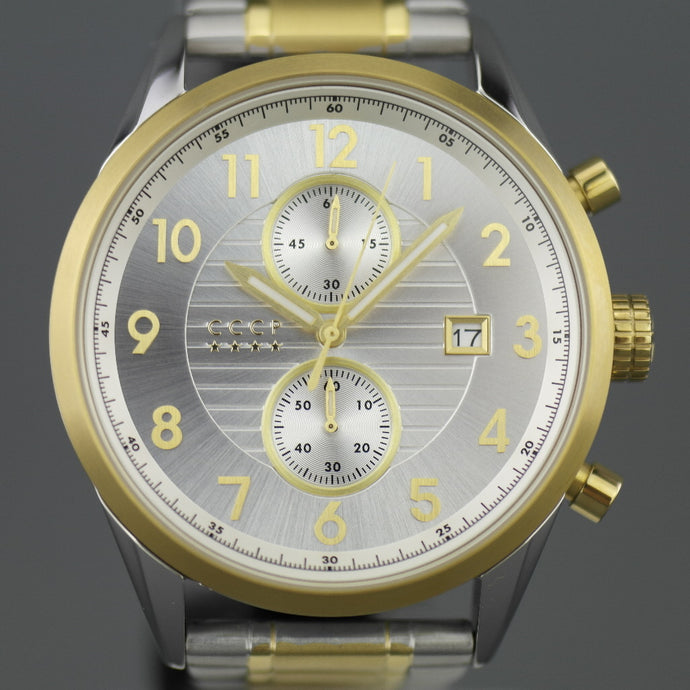 CCCP Chronograph Gent's gold plated wrist watch with date
