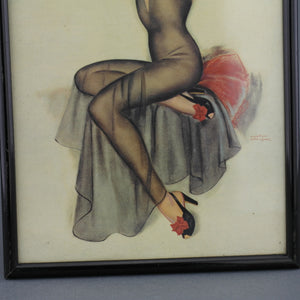 Antique cheesecake Poster from the 1920's Painting by Wilton Williams
