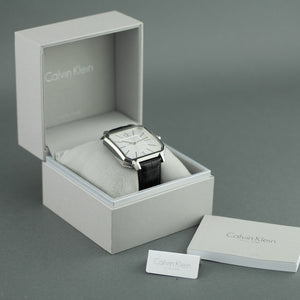 Calvin Klein Swiss Men's wrist watch with black Leather band