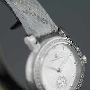 Constantin Weisz Diamonds edition Ladies mechanical wrist watch with leather strap