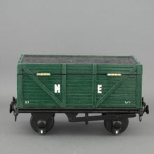 Load image into Gallery viewer, Vintage secret wooden box in shape of a train wagon full of coal