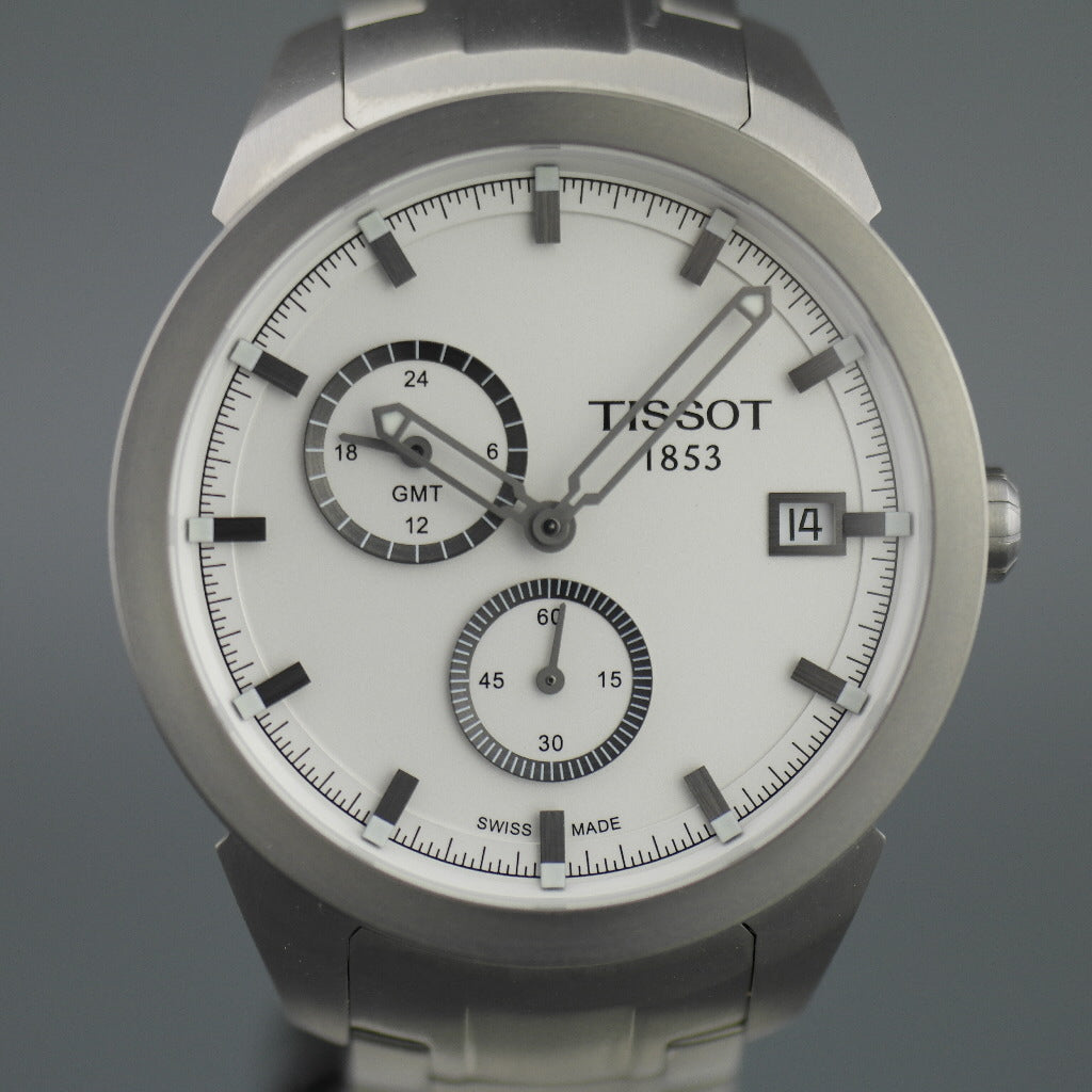 Tissot Titanium GMT Sport Collection Men's Anthracite dial wrist watch