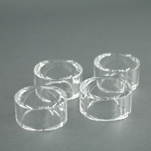 Load image into Gallery viewer, Oleg Cassini Oval shape Crystal set of four napkin rings