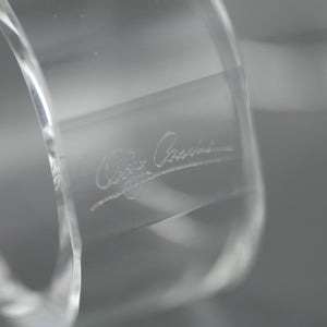 Oleg Cassini Oval shape Crystal set of four napkin rings