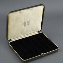 Load image into Gallery viewer, Antique brown cutlery box for spoons made in British Empire Jemes Ness Son Edinburgh
