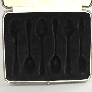 Antique brown cutlery box for spoons made in British Empire Jemes Ness Son Edinburgh