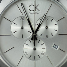 Load image into Gallery viewer, Calvin Klein Swiss Chronograph Men's wrist watch with black leather band