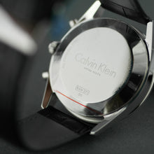 Load image into Gallery viewer, Calvin Klein Men's wrist watch Swiss Chronograph with black leather band