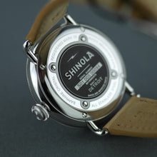 Load image into Gallery viewer, Shinola 43mm Men's wrist watch The Canfield Bold with natural leather strap