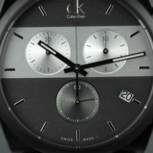 Load image into Gallery viewer, Calvin Klein Men's wrist watch Swiss Chronograph with black fabric band