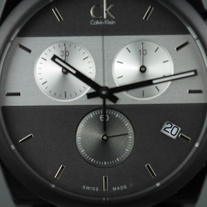 Calvin Klein Men's wrist watch Swiss Chronograph with black fabric band
