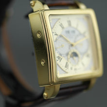 Load image into Gallery viewer, Constantin Weisz gold plated Automatic wrist watch with white enamel dial