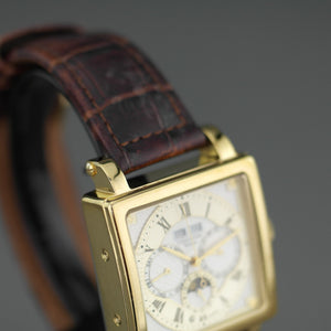 Constantin Weisz gold plated Automatic wrist watch with white enamel dial
