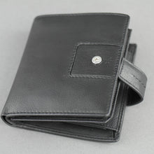 Load image into Gallery viewer, Bodenschatz Germany black goat leather wallet card holder
