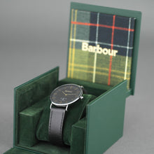 Load image into Gallery viewer, Barbour Hartley wrist watch with black dial and leather strap