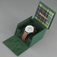 Load image into Gallery viewer, Barbour Jesmond Mens wrist watch silver dial and leather strap