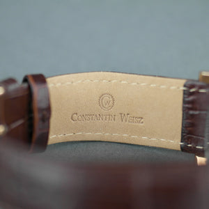 Constantin Weisz Night / Day 35 Jewels Automatic gold plated wrist watch with strap