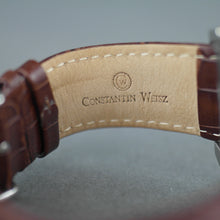 Load image into Gallery viewer, Constantin Weisz Dual time Automatic wrist watch with open heart and leather strap
