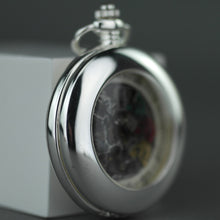 Load image into Gallery viewer, Half hunter Argo mechanic silver plated pocket watch with Roman numerals