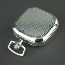 Load image into Gallery viewer, Tweed Full Hunter Silver plated pocket watch with Arabic numerals