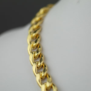 Dyadema 18ct Gold Plated Sterling Silver T-bar Curb Chain necklace made in italy