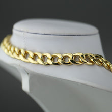 Load image into Gallery viewer, Dyadema 18ct Gold Plated Sterling Silver T-bar Curb Chain necklace made in italy