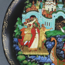 Load image into Gallery viewer, Sadko, Russian tales porcelain plate from Palekh Marsters of Russia, Wall Decor