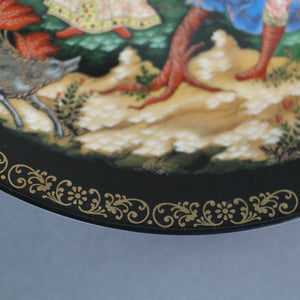 Elena the Fair, Russian tales porcelain plate from Palekh Marsters of Russia, Wall Decor