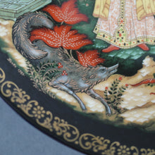 Load image into Gallery viewer, Elena the Fair, Russian tales porcelain plate from Palekh Marsters of Russia, Wall Decor