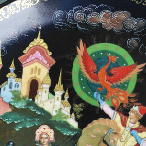 Princess Elena and Ivan, Russian tales porcelain plate from Palekh Marsters of Russia, Wall Decor