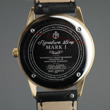 Load image into Gallery viewer, Paul Hewitt Signature Line watch Nautical Gold Mark I White Ocean black Leather
