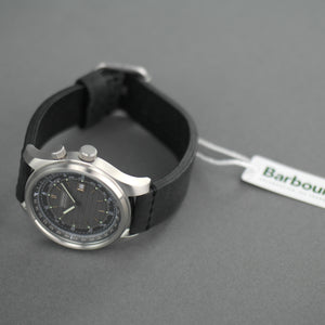 Barbour International Boldon a super special Gents watch with black leather strap