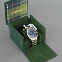Load image into Gallery viewer, Barbour Beacon Drive wrist watch white blue with date and stainless steel bracelet