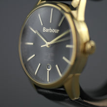 Load image into Gallery viewer, Barbour Leighton a super special Gents gold plated watch with leather strap