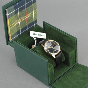 Barbour Leighton a super special Gents gold plated watch with leather strap