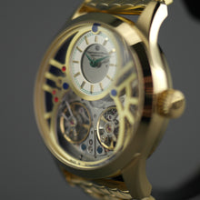 Load image into Gallery viewer, Constantin Weisz 40 jewels gold plated Gent's Automatic dual balance wheel wrist watch bracelet