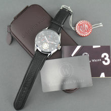 Load image into Gallery viewer, Constantin Weisz Automatic 20 Jewels wrist watch with black leather strap