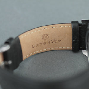 Constantin Weisz Automatic 20 Jewels wrist watch with black leather strap