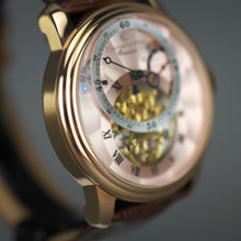 Load image into Gallery viewer, Constantin Weisz Carousel 29 jewels Automatic skeleton wrist watch and leather strap