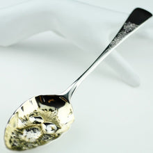 Load image into Gallery viewer, Antique 1795 sterling silver berry spoon London Samuel Holmes