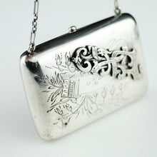 Load image into Gallery viewer, Antique solid silver wallet purse Emperor Nicolas II era of Russia 84