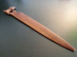 Antique solid wood letter opener boar on the top British Empire