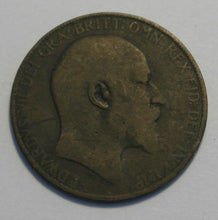 Load image into Gallery viewer, Antique 1907 one penny coin EDWARDS VII British Empire